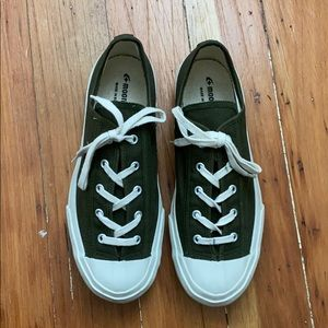 Moonstar Japan green Gym Classic canvas sneakers